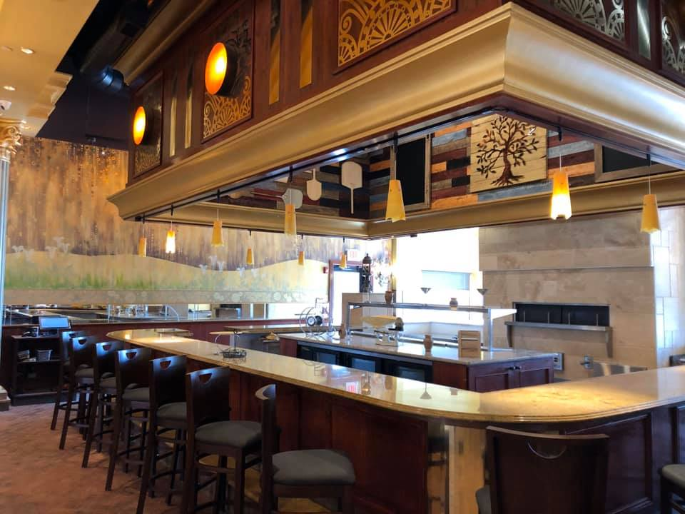 Pizza Bar at the Green Olive II in Vineland, New Jersey