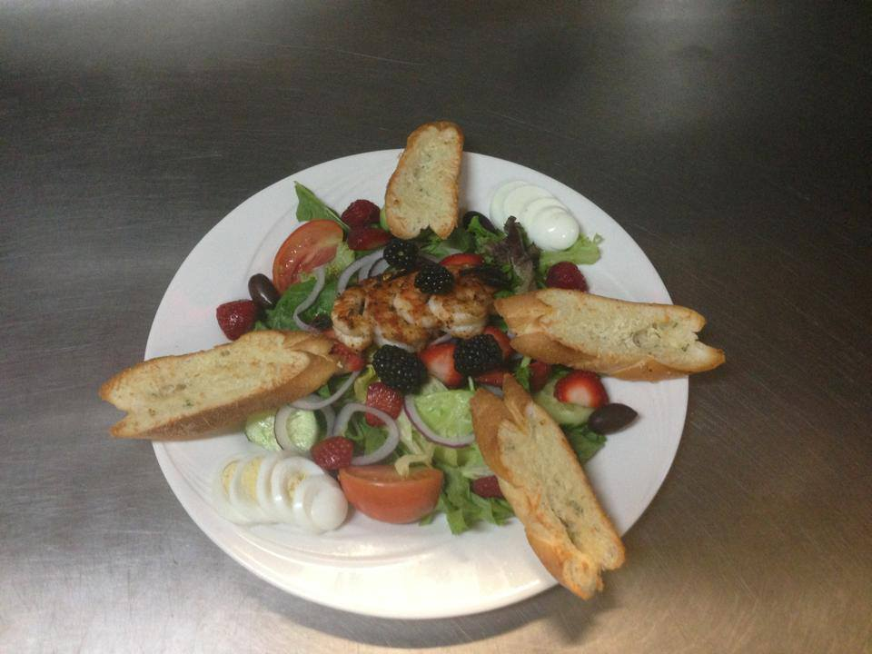 Fresh delicious food at Green Olive Restaurant
