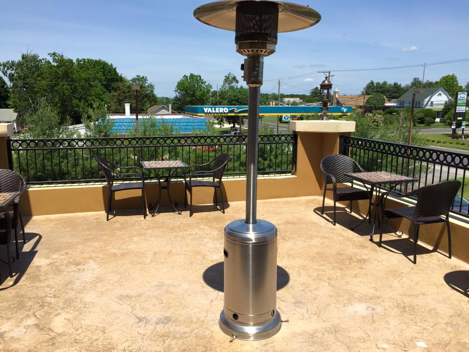Outdoor dining patio at Green Olive I in Bridgeton, New Jersey