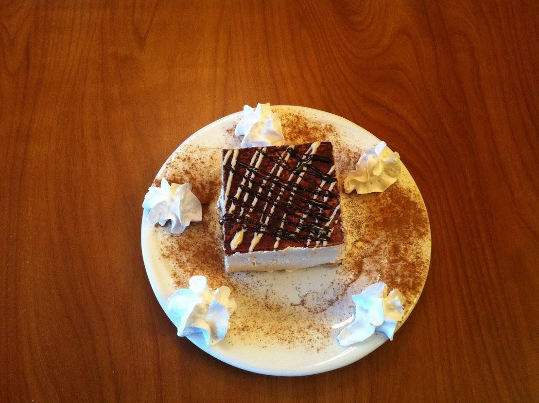 Fresh delicious desserts at Green Olive Restaurant